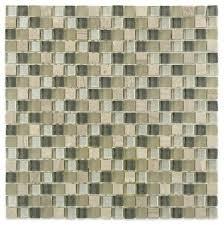 soho studio fusion silver mist squares contemporary mosaic