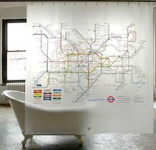 Tube Map of London Underground Shower Curtain Freshome
