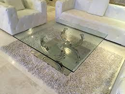 designer couchtisch edelstahl wohnzimmertisch glastisch glas hochglanz