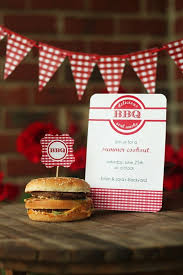 Items Similar To 12 Personalized Invitations Summer BBQ Retro Red Gingham On Etsy