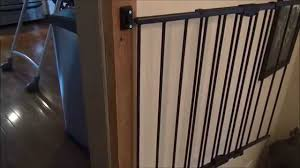 Baby Gate Install - Top Of Stairs, Against Iron Rail - YouTube Model Staircase Gate Awesome Picture Concept Image Of Regalo Baby Gates 2017 Reviews Petandbabygates North States Tall Natural Wood Stairway Swing 2842 Safety Stair Bring Mae Flowers Amazoncom Summer Infant 33 Inch H Banister And With Gate To Banister No Drilling Youtube Of The Best For Top Stairs Design That You Must Lindam Pssure Fit Customer Review Video Naomi Retractable Adviser Inspiration Jen Joes Diy Classy Maison De Pax Keep Your Babies Safe Using House Exterior