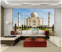 3d Room Wallpaper Custom Photo Non Woven Mural Home Decoration The Taj Mahal In India