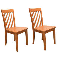 100 Heavy Wood Dining Room Chairs Set Of 2 Duty Solid Maple Finish Kitchen Side 802319014859 EBay