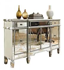 Powell Furniture 3 Drawers Mirrored Console