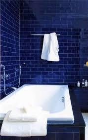 transform dark blue bathroom wall tiles for your small home decor