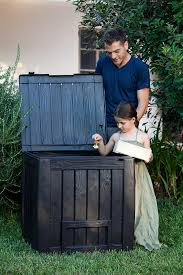 Suncast Db5000 50 Gallon Deck Box by Amazon Com Keter Decorative Composter Bin Garden U0026 Outdoor