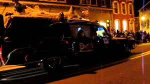 Boyertown Halloween Parade Winners by Flame Throwing Cadillac Hearse Youtube