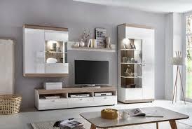 anbauwand wohnwand schrankwand wohnzimmerwand weiß hochglanz