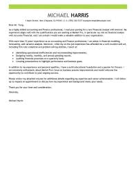 Accounting And Finance Cover Letter Example