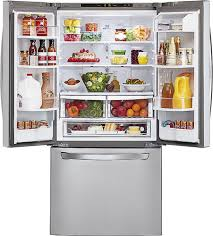 Counter Depth Refrigerator Dimensions Sears by Lg 23 6 Cu Ft French Door Refrigerator Silver Lfc24770st Best Buy