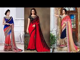 Celebrities Party Wear Fashion Designer Embroidery Work Sarees