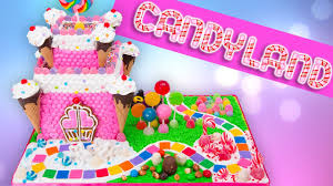 Cakes Decorated With Candy by Candyland Gingerbread Castle Cake Candy Land Gingerbread House