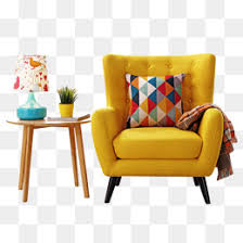 American Simple Casual Single Modern Sofa Simplicity Leisure Individual PNG And PSD