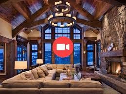 landhaus gebirge interieur modernes wohnzimmer kamin