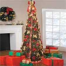 Black Pre Lit Pop Up Christmas Tree by Shop Artificial Christmas Trees Pre Decorated Pre Lit U0026 Pop Up