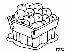 Blueberry Bowl Coloring Page