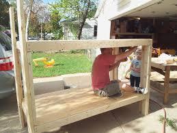 built in bunk beds diy home decor ideas
