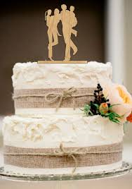 Family Wedding Cake TopperBride And Groom With Little Girl Boy SilhouetteUnique TopperRustic Toppe