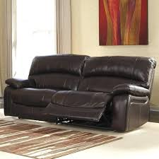 Power Reclining Sofa Problems by Furniture Leather Power Reclining Sofa Dark Brown Ashley Problems