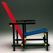 chaise rietveld cassina and blue by gerrit t rietveld 1918 designer
