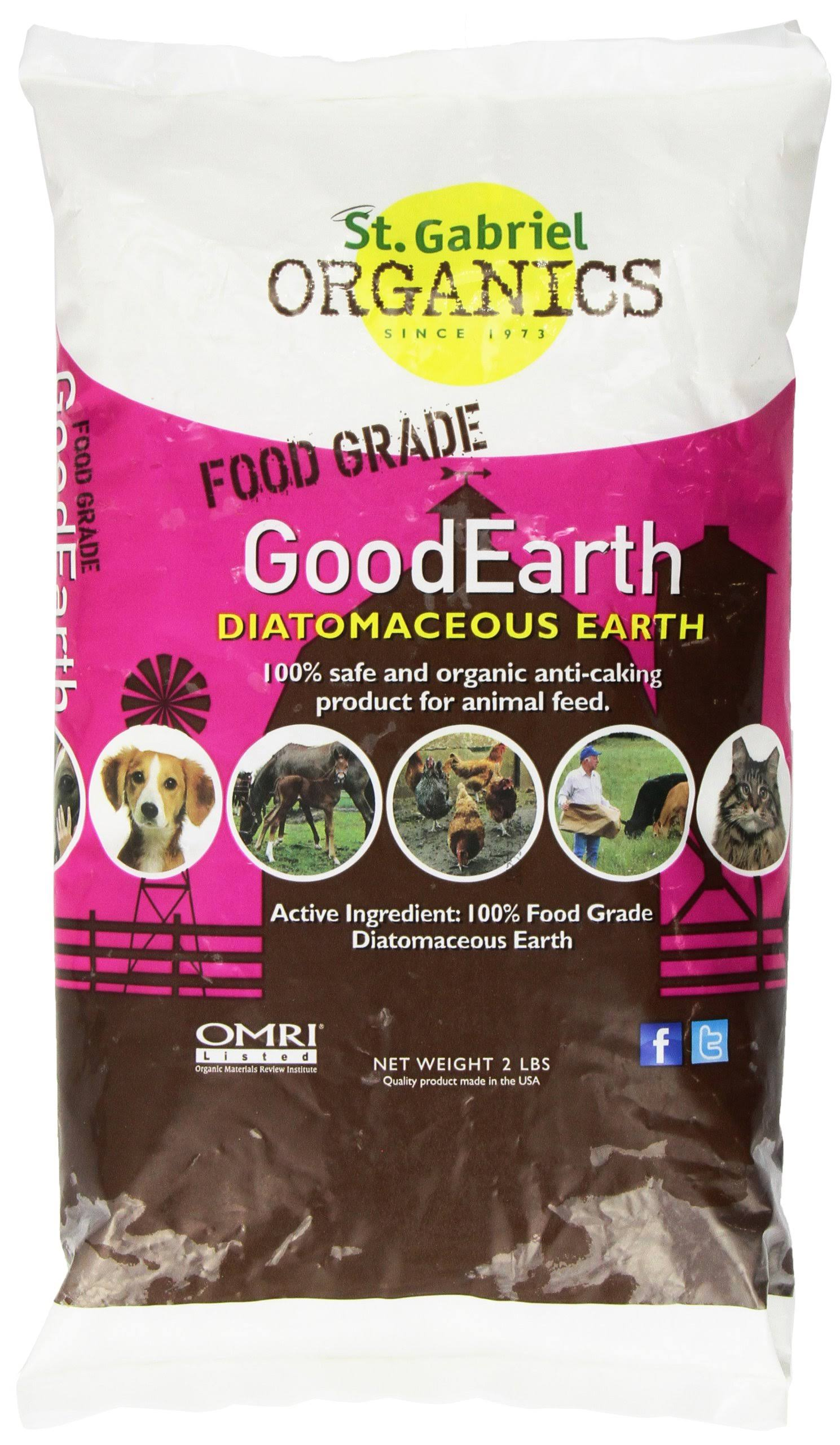 Good Earth Diatomaceous Earth Supplement - for Chicken and Farm Animals, 2lbs