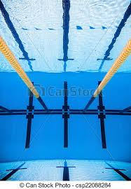 Empty 50m Olympic Outdoor Pool From Underwater
