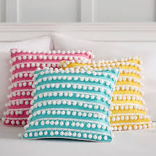 PB Teen Poolside Pom Pom Pillow Cover 16 X 16 Pink $28