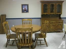 Dining Room Table4 Chairs Hutch Solid Oak Kincaid For Sale In Howell Michigan