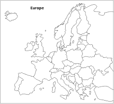 Awesome Map Of Europe Coloring Page