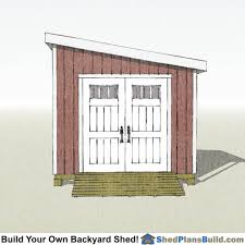 10x10 Lean To Shed Plans
