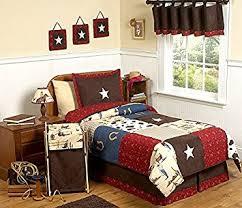 amazon com wild west cowboy western childrens bedding 4pc twin