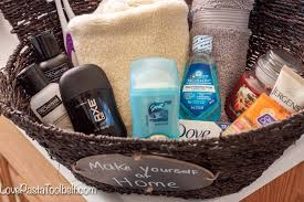 Guest Bathroom Welcome Basket - Love, Pasta, And A Tool Belt The Best White Elephant Gifts Funny Useful Diy Ideas Lil Luna Gift For Baby Shower Beautiful Bath Tub Basket My Duck Design Dispenser Him Her Any Occassion 41 Best Mom 2019 How To Easily Make Aesthetic Bathroom Designs 8 Usa Made Vegan 2 Oz Bombs Set For Women Simple But Creative Towel Folding And 20 Toilet Poo Themed That Are Truly Amazing Unique Gifter Accsories 36 New York Yankees Images On Bundle Style Degree Amazoncom 5piece Spa Assorted Colors
