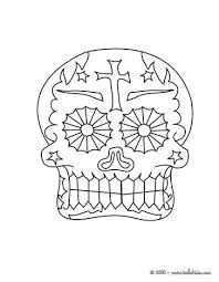 Mariachi Skeleton Day Of Death Mexican Decorated Skull Coloring Page