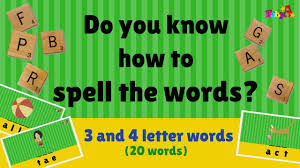 Spelling Of Words 3 Letter 4 Letter Scrabble Word Games 2 By