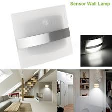 wireless motion sensor led wall light battery operated indoor