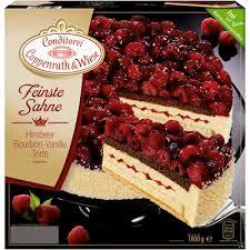 coppenrath wiese feinste sahne himbeere bourbon vanille torte tiefgefroren 1 8 kg packung