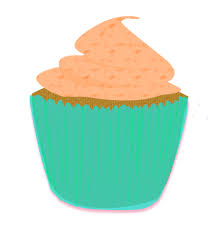 Turquoise Brown Cupcake Clip Art by Wisp Stock on Clipart library