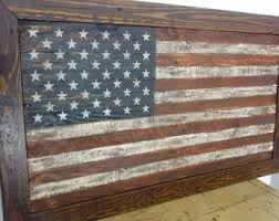 Vintage American Flag Wall Art Framed Pallet Or Betsy Ross Rustic Reclaimed Wood