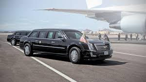 Cadillac presidential limo known as The Beast Trump presidential limo