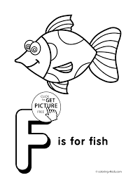 Letter F Coloring Pages Alphabet Words For Kids