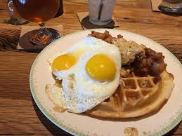 Fried Chicken & Waffles at Whiskey Cake Brunch