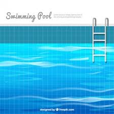 Swimming Pool Background In Flat Design
