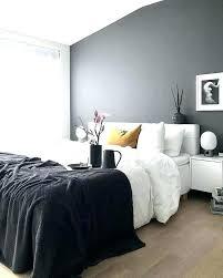 schwarzes und graues schlafzimmer dekoration ideen
