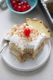 Pina Colada Ice Box No Bake Cake LemonsforLulu