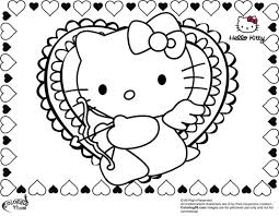 Mobile Coloring Hello Kitty Valentines Day Pages New At Printable Aquadiso