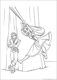 Tangled Rapunzel Coloring Pages 56