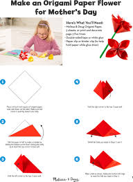 DIY Craft Make An Origami Paper Flower For Mothers Day INSTRUCTIONS