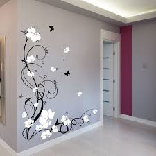 large flower butterfly vine wall stickers wall decals