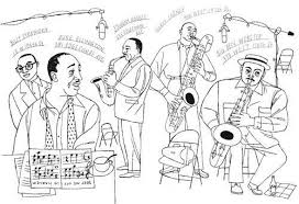 Jazz Coloring Pages Harlem Renaissance Sketch Page