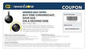 CAN] Best Buy Member Chromecast Deal (BOGO $20 Off) : Chromecast Best Buy Toy Book Sales Cheap Deals With Coupon Codes Coupons For Cheap Perfume Coupons Shopping Promo November By Jonathan Bentz Issuu Pinned 19th 20 Off Small Appliances At Posts 50 Off On Internet Forgets How File Sharing Premium Coupon Code Sf Opera Cyber Monday Sale 2014 Nike Famous Footwear And More Revolution Finish Line Phone Orders Glassesusa Code Cinemas 93